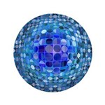 Optical Illusion Sphere - Blue 3.5