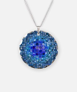 Optical Illusion Sphere - Bl Necklace