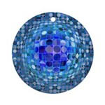 Optical Illusion Sphere - Blue Ornament (Round)