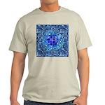 Optical Illusion Sphere - Blue Light T-Shirt