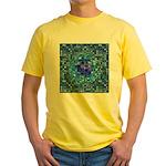 Optical Illusion Sphere - Blue Yellow T-Shirt