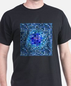Optical Illusion Sphere - Blue T-Shirt