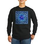 Optical Illusion Sphere - Long Sleeve Dark T-Shirt