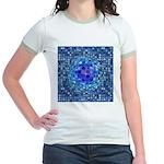 Optical Illusion Sphere - Blue Jr. Ringer T-Shirt