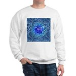 Optical Illusion Sphere - Blue Sweatshirt