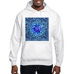 Optical Illusion Sphere - Blue Hooded Sweatshirt