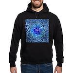 Optical Illusion Sphere - Blue Hoodie (dark)