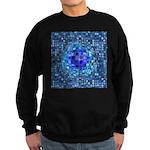 Optical Illusion Sphere - Blue Sweatshirt (dark)