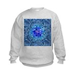 Optical Illusion Sphere - Blue Kids Sweatshirt