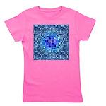 Optical Illusion Sphere - Blue Girl's Tee