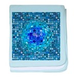 Optical Illusion Sphere - Blue baby blanket