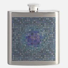 Optical Illusion Sphere - Blue Flask
