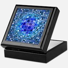 Optical Illusion Sphere - Blue Keepsake Box