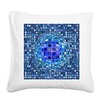 Optical Illusion Sphere - Blu Square Canvas Pillow