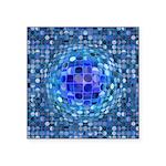 Optical Illusion Sphere - B Square Sticker 3