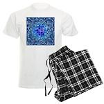 Optical Illusion Sphere - Blu Men's Light Pajamas