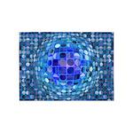 Optical Illusion Sphere - Blue 5'x7'Area Rug