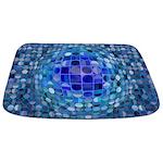 Optical Illusion Sphere - Blue Bathmat