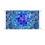 Optical Illusion Sphere - Blue Banner