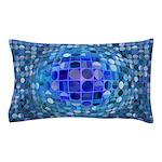 Optical Illusion Sphere - Blue Pillow Case