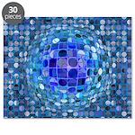 Optical Illusion Sphere - Blue Puzzle