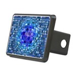 Optical Illusion Sphere - Rectangular Hitch Cover
