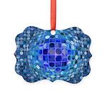 Optical Illusion Sphere - Blue Picture Ornament