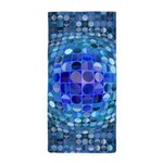 Optical Illusion Sphere - Blue Beach Towel