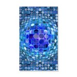 Optical Illusion Sphere - Blue 20x12 Wall Decal