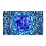 Optical Illusion Sphere - Blue 3'x5' Area Rug