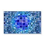 Optical Illusion Sphere - Blue Car Magnet 20 x 12
