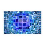 Optical Illusion Sphere - Blu Rectangle Car Magnet