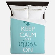 Keep Calm and Cheer On Queen Duvet