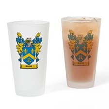 Brooks Coat of Arms Drinking Glass