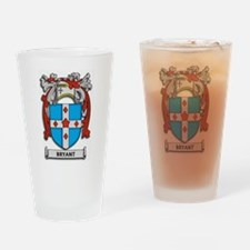 Bryant Coat of Arms Drinking Glass