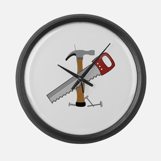 Tool Time Large Wall Clock