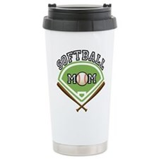 Softball Mom Travel Coffee Mug