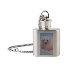 Alone - Harpseal pup Flask Necklace