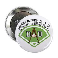 "Softball Dad 2.25"" Button"