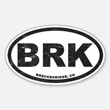 Breck Ink Block Black Sticker (oval)