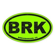 Breck Ink Block Lime Sticker (oval)