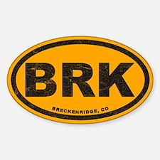Breck Ink Block Gold Sticker (oval)
