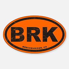 Breck Ink Block Orange Sticker (oval)