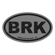 Breck Ink Block Silver Sticker (oval)