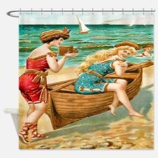 Vintage Victorian Women Boat Beach Shower Curtain