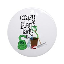 Crazy Plant Lady Ornament (Round)