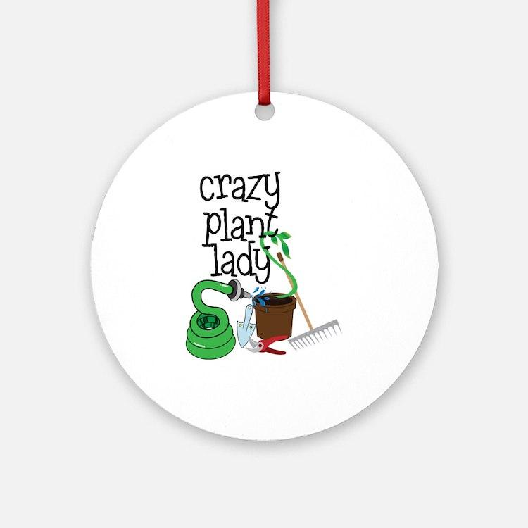 Crazy Plant Lady Ornament (Round)