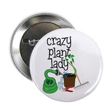 "Crazy Plant Lady 2.25"" Button"
