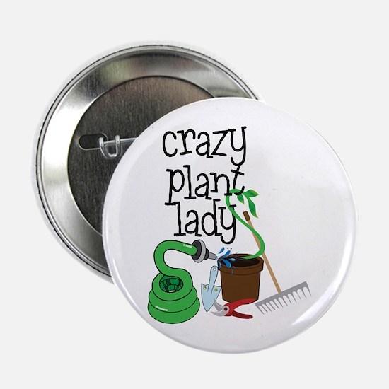 """Crazy Plant Lady 2.25"""" Button"""