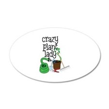 Crazy Plant Lady Wall Decal